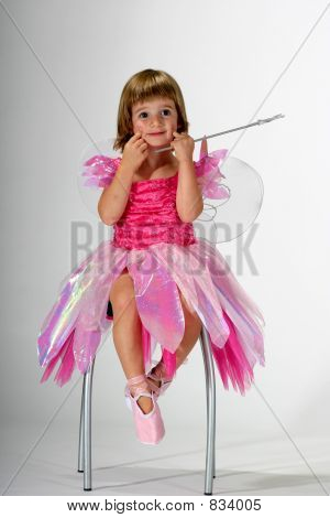 fairy girl making a funny face