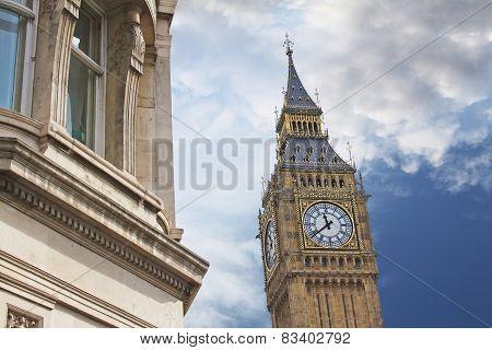 Elizabeth Tower, Or Tower Of Big Ben In London