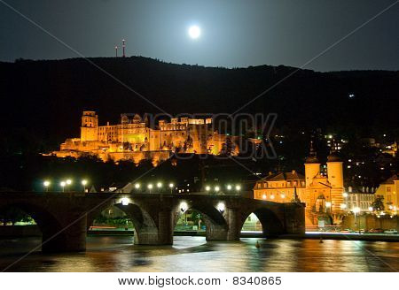 The Heidelberger Castle by night