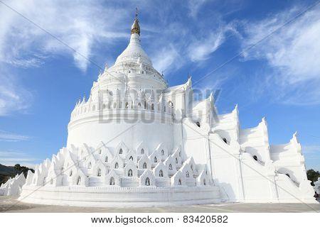 The white pagoda of Hsinbyume (Mya Thein Dan pagoda ) paya temple, Mingun, Mandalay - Myanmar