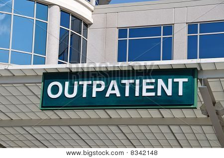 Hospital Outpatient Entrance Sign