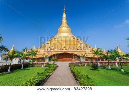 The Global Vipassana Pagoda is a Meditation Hall in Mumbai India poster