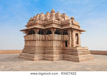 Sas Bahu Temple in Gwalior city India poster