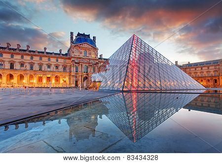 Paris, France - February 9, 2015: The Louvre Museum Is One Of The World's Largest Museums And A Hist