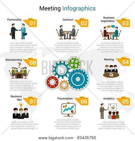 Meeting Infographics Set