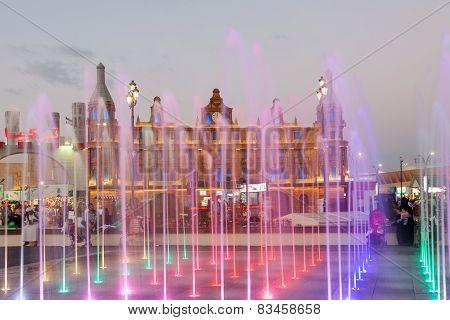 Fountain At Dubai Global Village