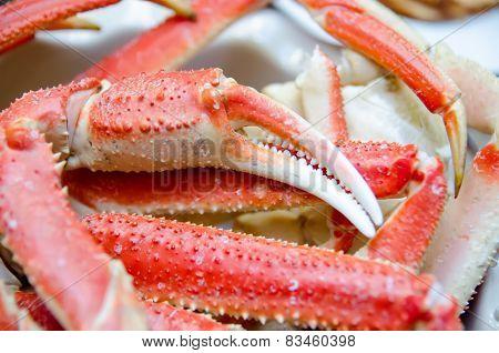 King Snow Crab Legs Ready To Eat Closeup