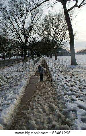 Aftermath of snow in DC