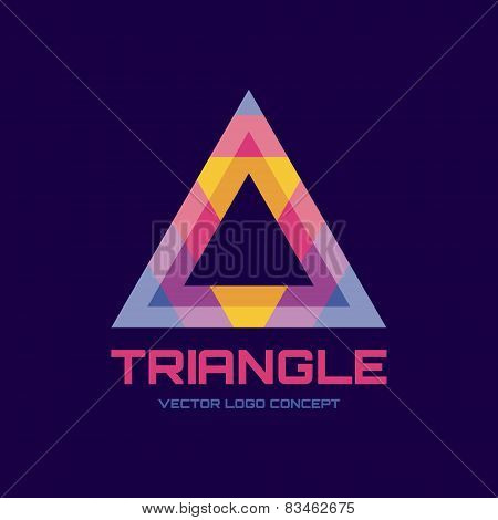 Triangle - vector logo concept illustration. Abstract triangle logo sign.