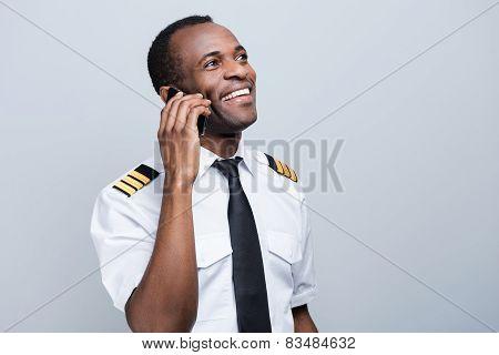 Sharing News After Landing.