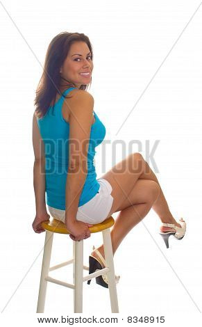Perched On Stool