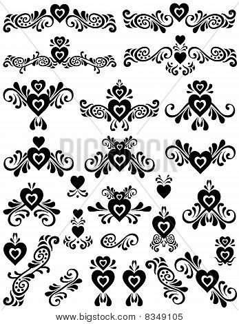 Hearts Fancy Scroll Set