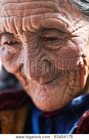 Portrait Of Tibetan Woman, Nepal