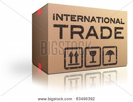 International trade and global transport Logistics freight transportation import and export market poster