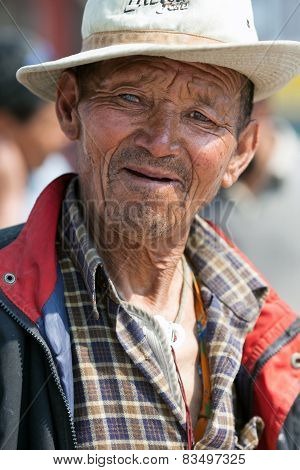 Tibetan pilgrim, Nepal
