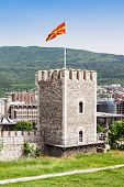 Kale Fortress is a historic fortress located in the old town Skopje Macedonia poster