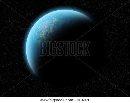 Planet Half Illuminated