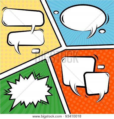 Vector Comics Speech Bubbles Set