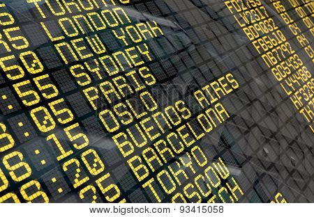 International Airport Departure Board