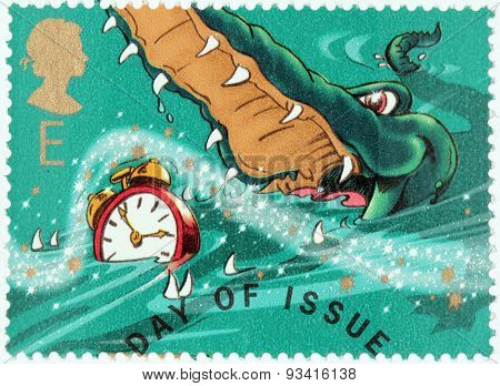 Crocodile And Clock