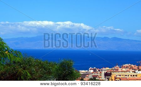 View of La Gomera island, Tenerife.