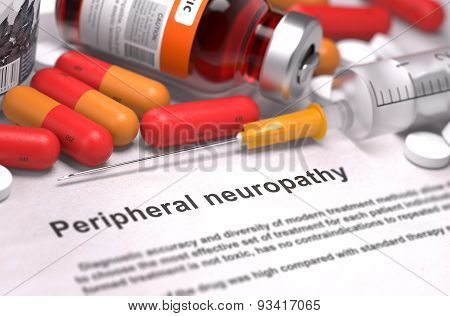 Peripheral Neuropathy Diagnosis. Medical Concept.