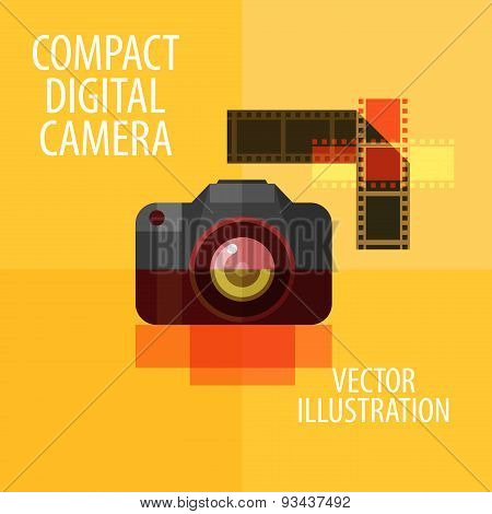 photo camera vector logo design template. digital camera or photograph, photography