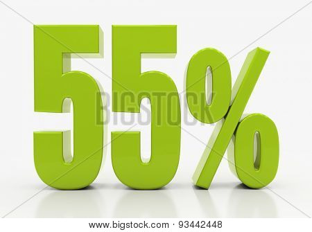 Percent off. Discount. 3D illustration