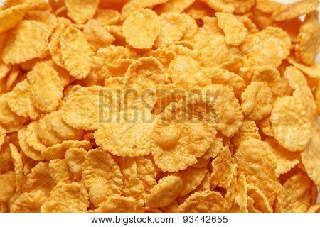 Children's breakfast:  heap of cornflakes on plate