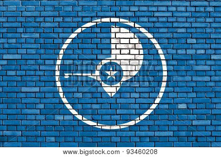 Flag Of Yap Painted On Brick Wall