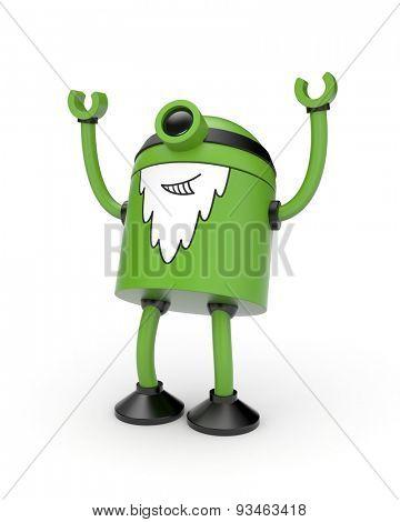Old green robot rejoice