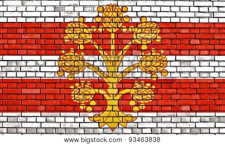Flag Of Westmorland Painted On Brick Wall