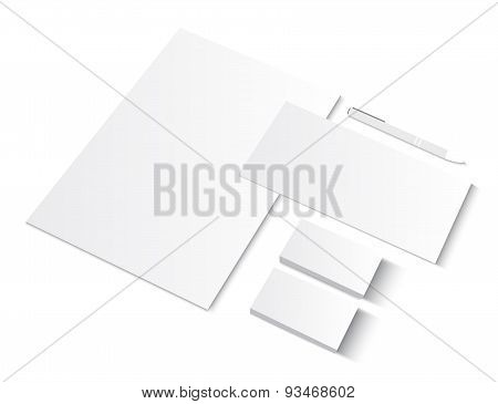 Set of CI blank templates with business cards.