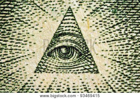 Eye Of Providence Us 1 Bill. Macro