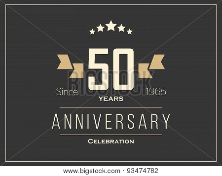 Fifty years anniversary celebration logotype. 50th anniversary logo.