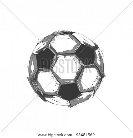 soccer ball light abstract design