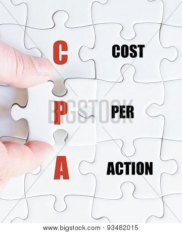 Last Puzzle Piece With Business Acronym Cpa
