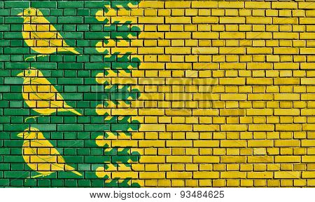 Flag Of Finchfield Painted On Brick Wall