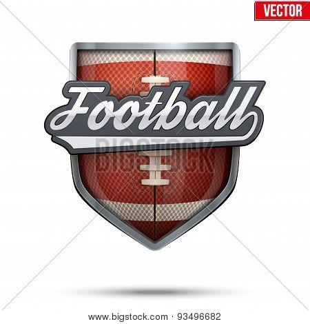 Premium symbol of American Football label