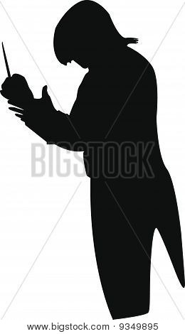 The conductor with a stick