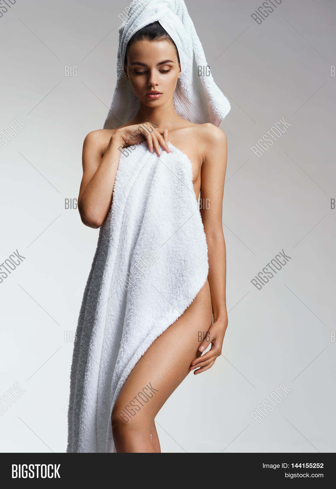 Sexy Woman Towel After Bath Image  Photo  Bigstock-7459