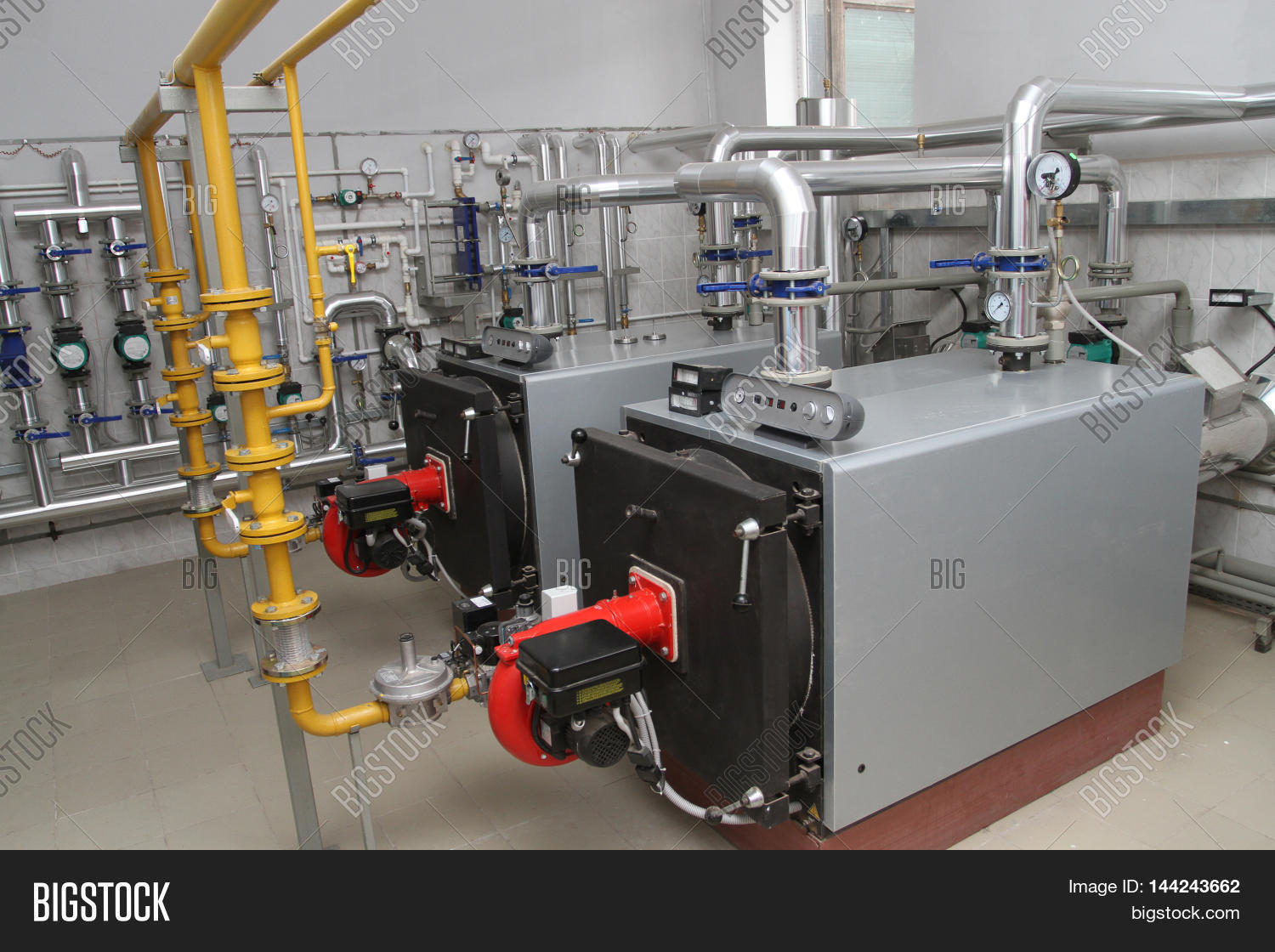 Two Gas Boilers Modern Image & Photo (Free Trial) | Bigstock