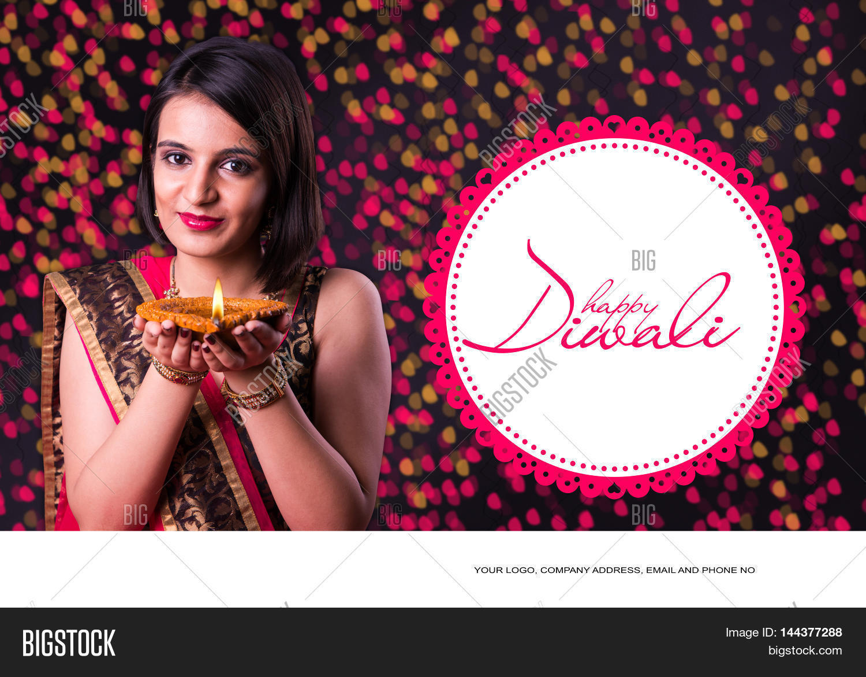 Happy Diwali Greeting Image Photo Free Trial Bigstock