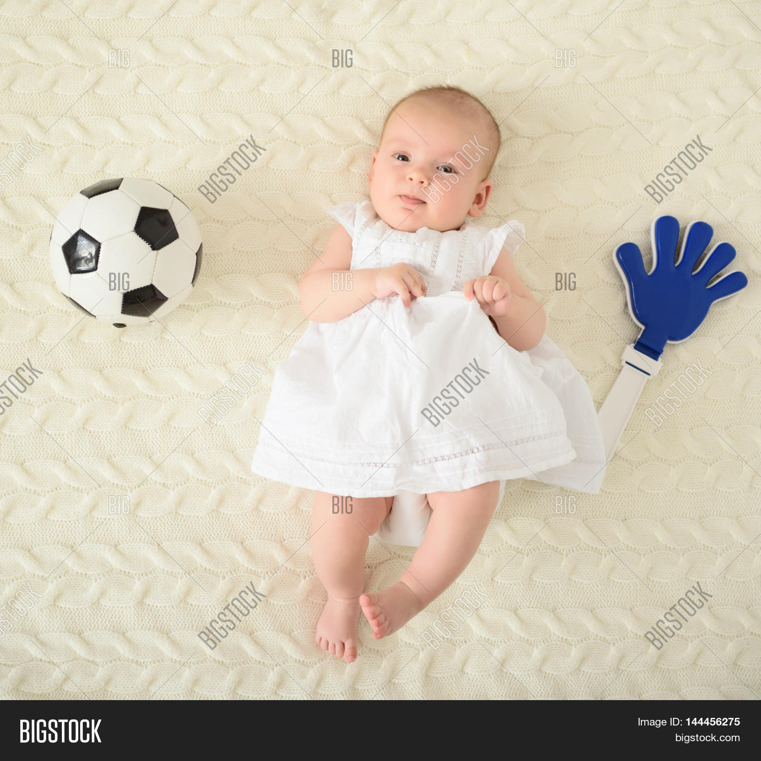 Smallest Football Fan Top View Image &