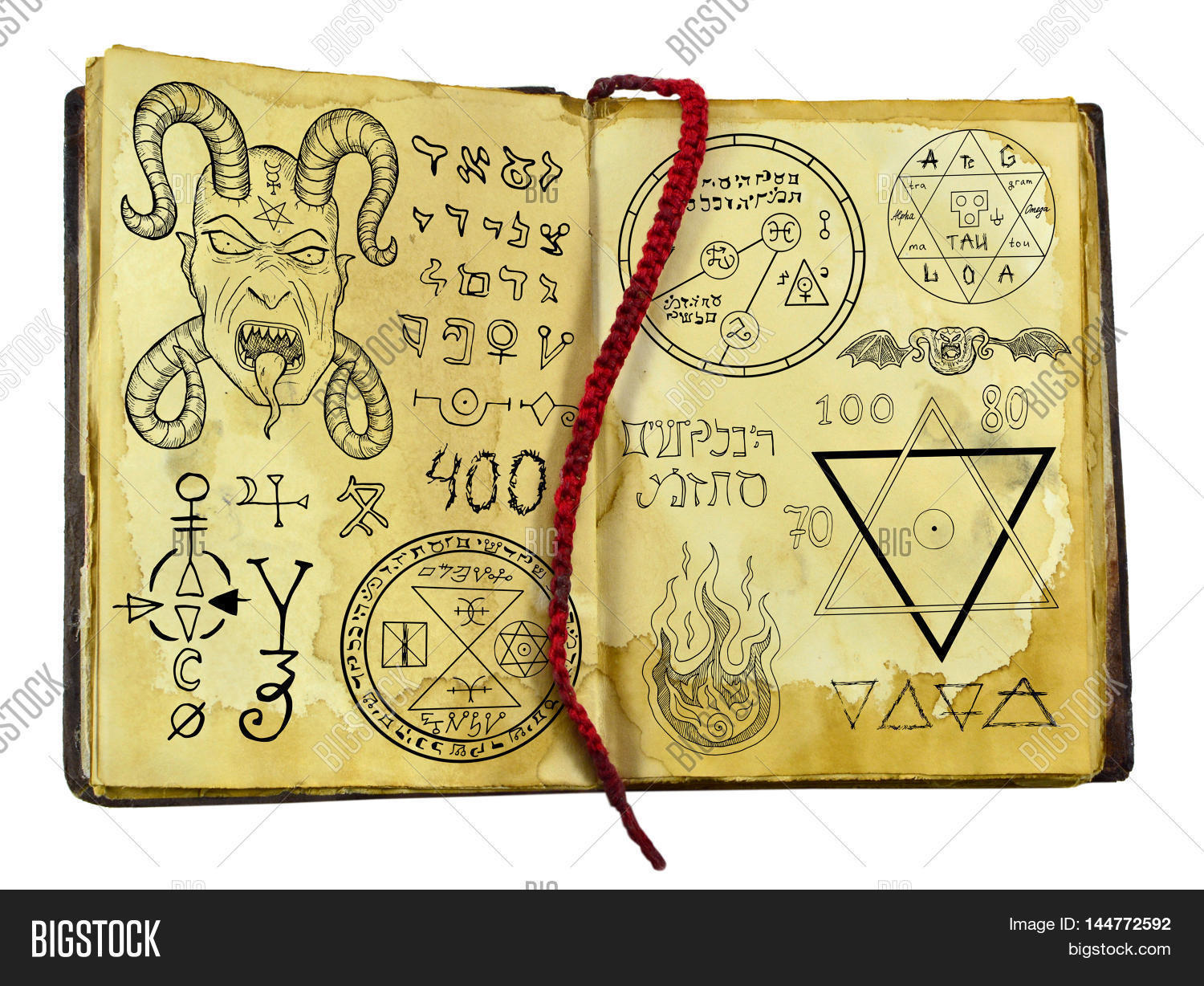 Old Witch Book Demon Image Photo Free Trial Bigstock