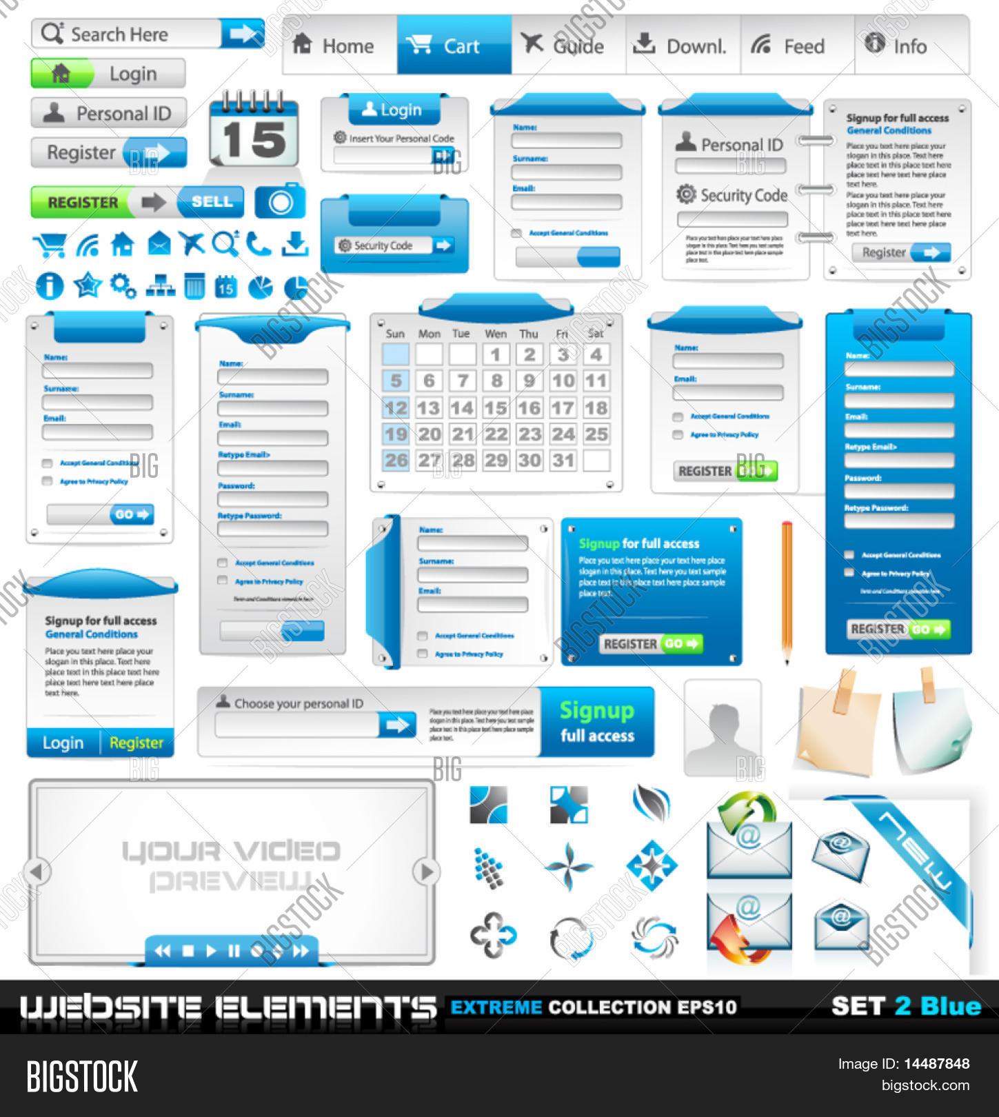 Web Design Elements Vector & Photo (Free Trial) | Bigstock