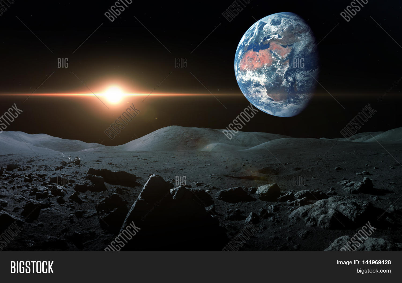 view earth moon image photo free trial bigstock