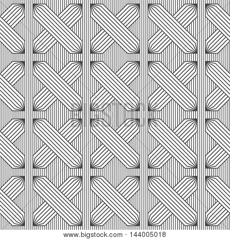 Slim Gray Hatched Rectangles On Stripes