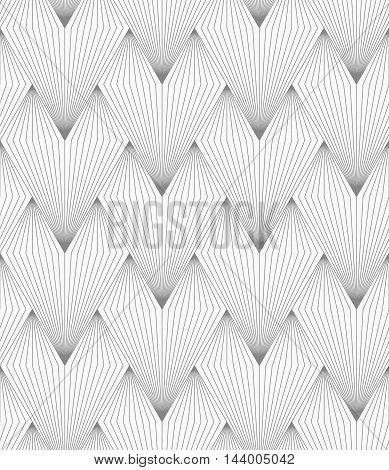 Slim Gray Hatched Triangular Shapes