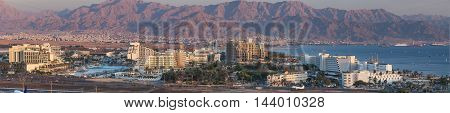Panoramic view on Eilat and the Gulf of Aqaba (Red Sea)